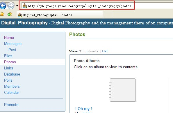 create task for download pics from yahoo group